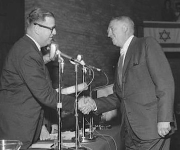 Sharon Receiving the Israel Prize for Architecture 1962