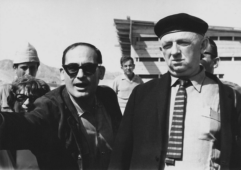 Sharon with Avraham Yaski