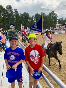 Coop & Jax at their first rodeo.