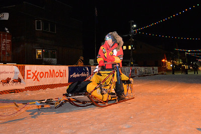 March 11, 2014: Mitch Seavey finished third in the 2014 Iditarod after winning in 2013. Seavey made the run from Willow, Alaska to Nome, Alaska in 8 days, 16 hours, 39 minutes and 40 seconds.