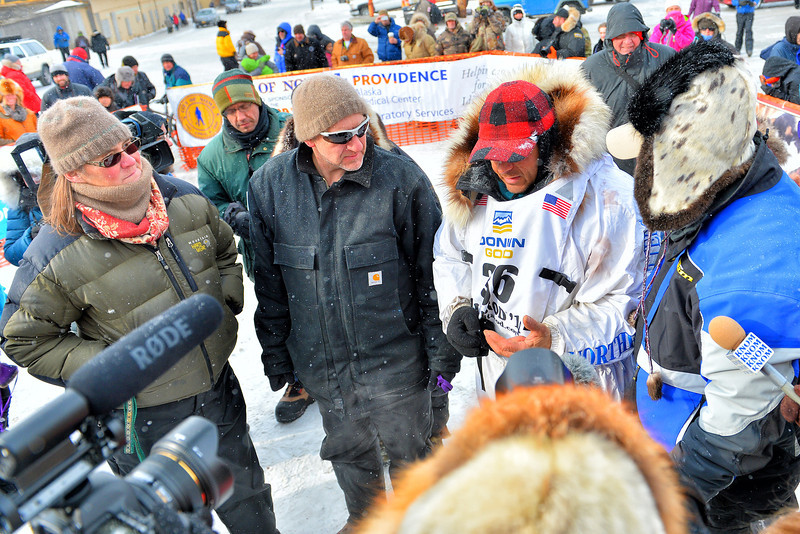 March 11, 2014: Martin Buser finished sixth in the 2014 Iditarod. Buser made the run from Willow, Alaska to Nome, Alaska in 9 days, 58 minutes and 58 seconds.