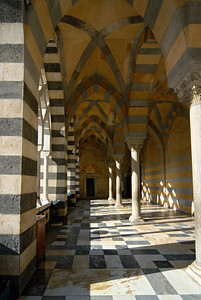Archway Corridor at the Entrance to the Cathedral of Amalfi (Duomo), Campania (Italy)