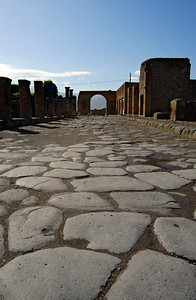 Paved Road and Arch, Pompeii (Italy)