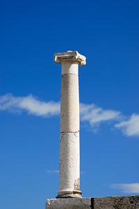 White Marble Column, Pompeii, Italy