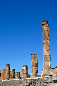 Columns of Temple of Jupiter, Pompeii, Italy