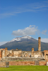 Temple of Jupiter and Vesuvius, Pompeii, Italy