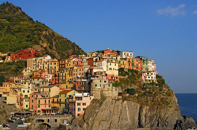 Coastal Village of Manarola in Cinque Terre, Liguria (Italy)