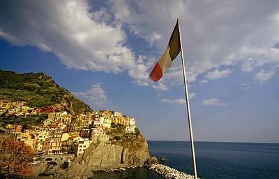 Italian Flag, Manarola, Cinque Terre