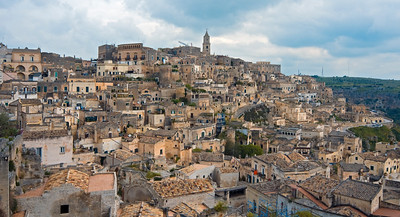 Panorama of Sasso Barisano, Matera, Italy