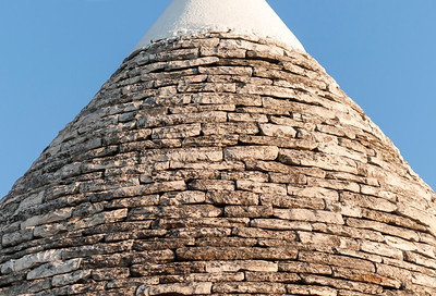 Close-up of Limestone Roof of Trullo House, Alberobello Trulli District, Puglia, Italy