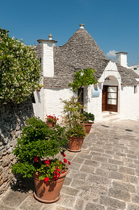 Street Scene, Alberobello Trulli District, Puglia, Italy