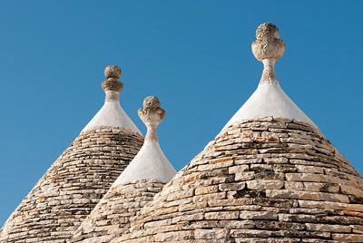 Trulli Roofs, Alberobello, Italy
