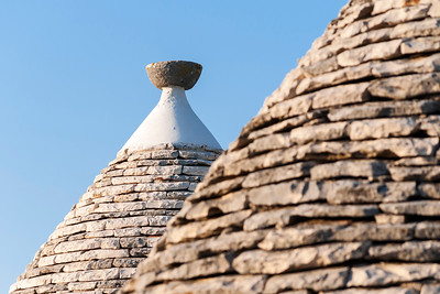 Close-up of Conical Roofs of Trullo Houses, Alberobello Trulli District, Puglia, Italy