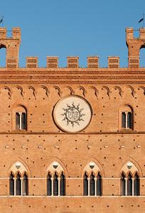 Facade of Palazzo Pubblico, Siena