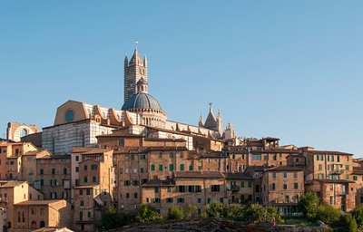 Historic Centre of Siena Dominated by Duomo (Cathedral), Tuscany, Italy