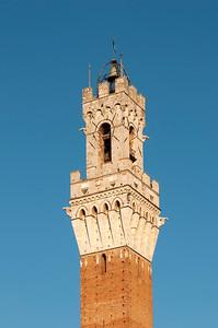 Torre del Mangia of Palazzo Pubblico (Town Hall), Piazza del Campo, Siena, Tuscany, Italy