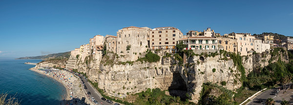 Panoramic view of Tropea, Calabria, Italy