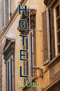 Hotel Neon Sign, Florence, Italy