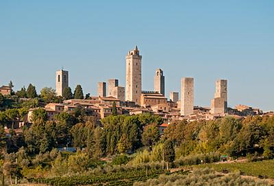 Hill Town of San Gimignano, Tuscany, Italy