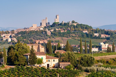 Towers of medieval hill-town of San Gimignano, Tuscany, Italy