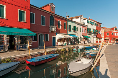 Canal with Boats, Burano, Venice