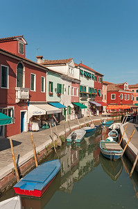 Canal with Boats, Fondamenta degli Assassini, Burano, Venice, Veneto, Italy