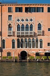 Gothic Ca' Sagredo (Morosini Sagredo Palace) built in 14th - 15th century, now Luxury Hotel, Grand Canal, Cannaregio, Venice, Veneto, Italy