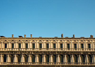 Procuratie Nuove Building in Classical Style at Piazza San Marco (St. Mark's Square), Venice, Italy
