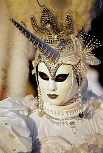White Unicorn Carnival Mask, Venice (Italy)