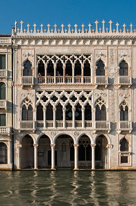 Gothic Ca' d'Oro Palace (Palazzo Santa Sofia) built in 15th Century by Architect Bartolomeo Bon, Grand Canal, Cannaregio District, Venice, Veneto, Italy