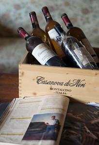 Bottles of Brunello of Montalcino Wine, Tuscany, Italy