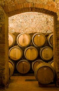 Wine Cellar with Oak Barrels, Chianti