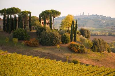 Landscape near San Gimignano, Tuscany, Italy