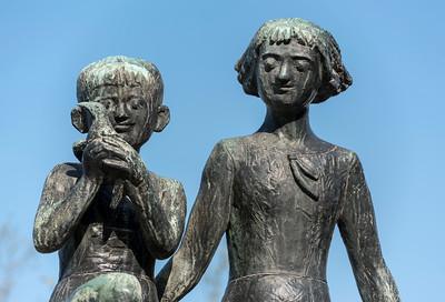 Memorial to Miekichi Suzuki, Hiroshima Peace Park, Japan