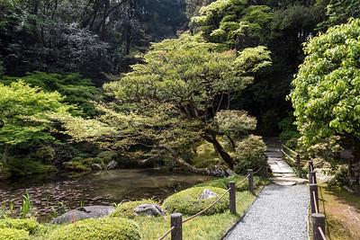 Garden of Nanzen-in Buddhist temple at Nanzen-ji complex in Kyoto, Japan