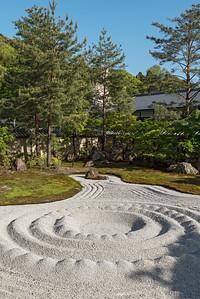 Zen garden at Kodaiji (Kodai-ji) Temple, Kyoto, Japan