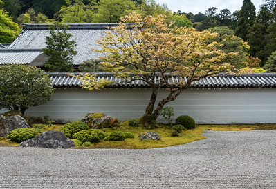 Zen garden of Hojo at Nanzen-ji Buddhist temple in Kyoto, Japan
