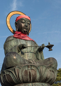 Bronze Rokujizo (Roku Jizo or Ksitigrabha) statue at Zenko-ji Temple, Nagano, Japan