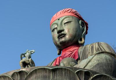 Bronze Nurebotoke (Wet Mizo) Statue, Zenko-ji Temple, Nagano, Japan
