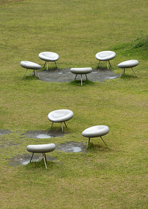 Chairs at Miyanoura Port, Naoshima