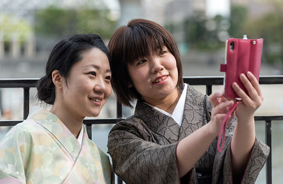 Japanese Women Take a Selfie