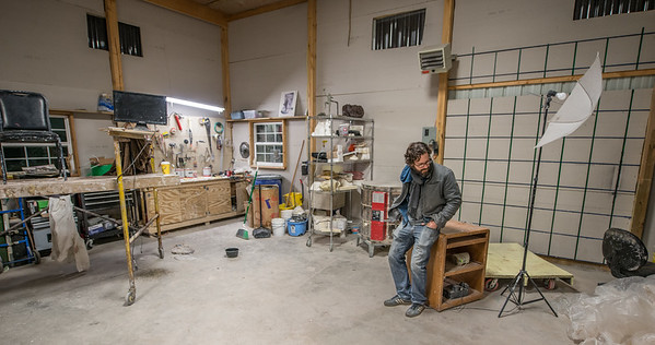 Jamie Lester_Sculptor_Painter_Artist_West Virginia_photo by Gabe DeWitt_January 14, 2015-70-2