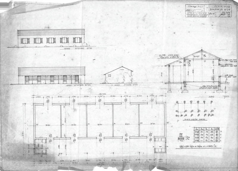 Floor Plan, Elevations and Section