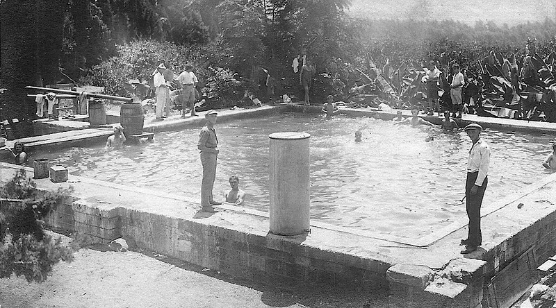 Kibbutz Members in the Irrigation Pool
