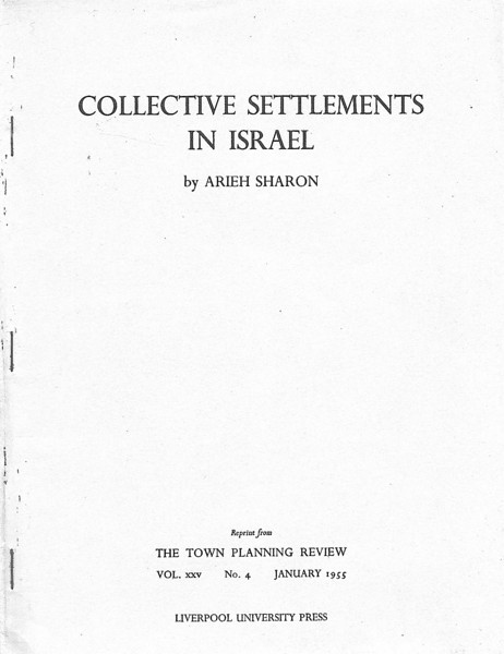 Collective Settlements in Israel