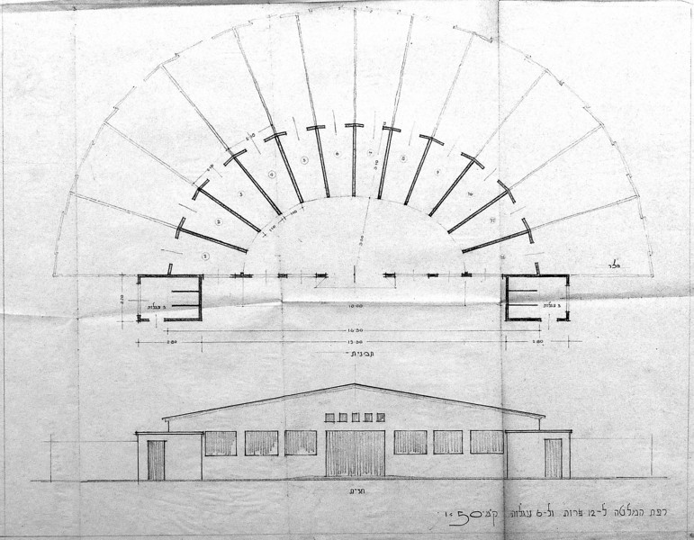 Plan and Elevation of the Cowshed