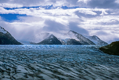 Clearing storm over Glacier Grey, Patagonia, Chile