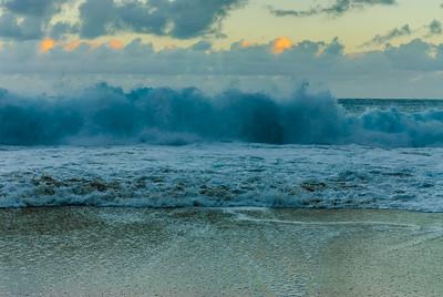 Breaking wave, Kauai, Hawaii