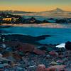 Mt Adams and the Tatoosh Range from high on Mt Rainier, Washington