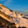 Afternoon light at 10,000 ft on Mt Rainier, Washington